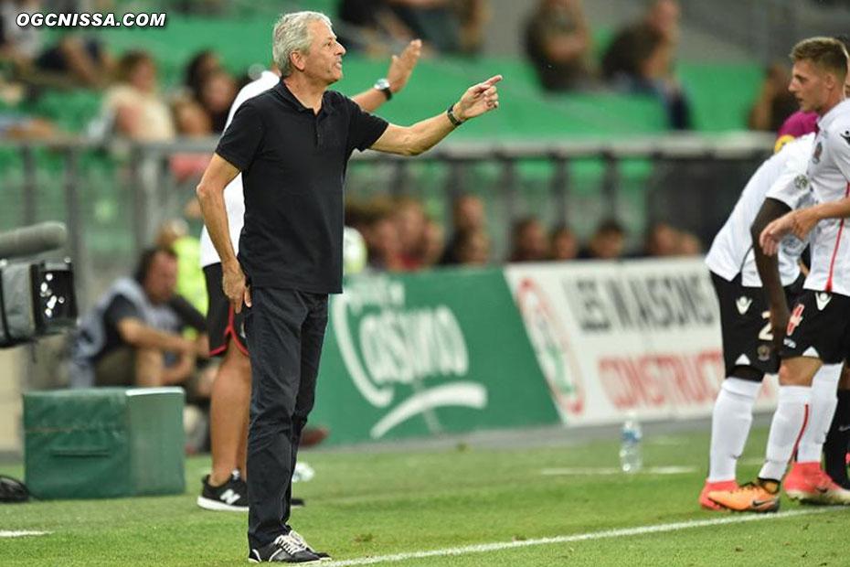 Malgré les consignes de Lucien Favre, Nice ne parviendra pas à revenir et débute par une défaite