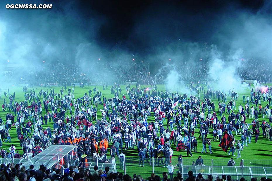 Le peuple niçois fête la montée en Ligue 1