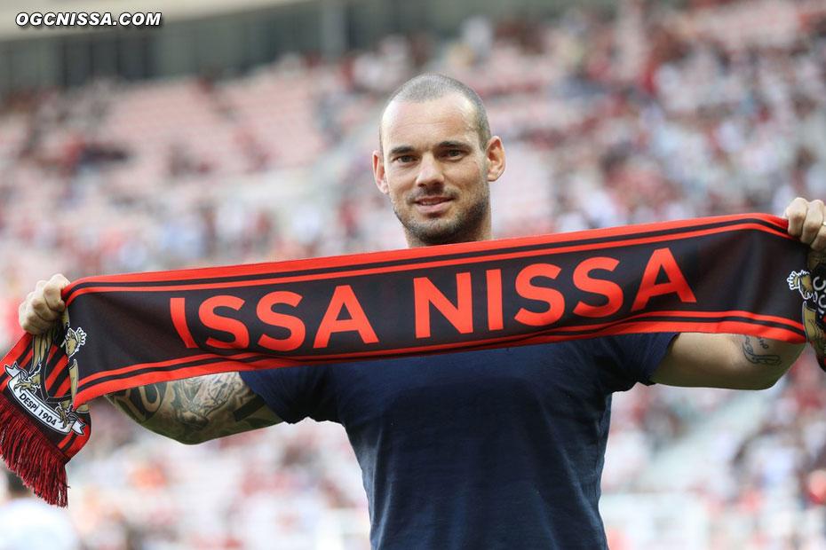 Wesley Sneijder, nouveau meneur de jeu du Gym