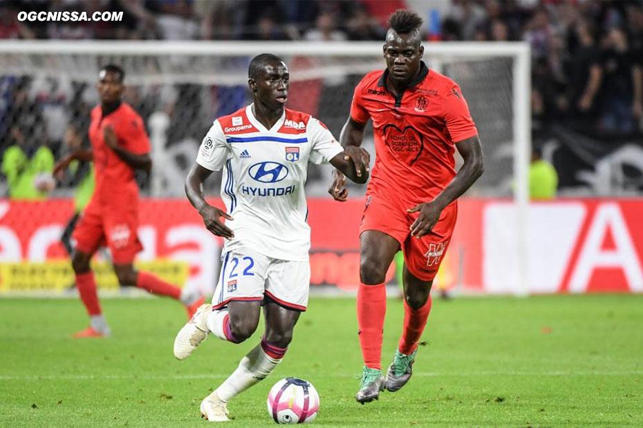 Première pour Mario Balotelli lors de cette rencontre de la 4e journée de L1 à Lyon