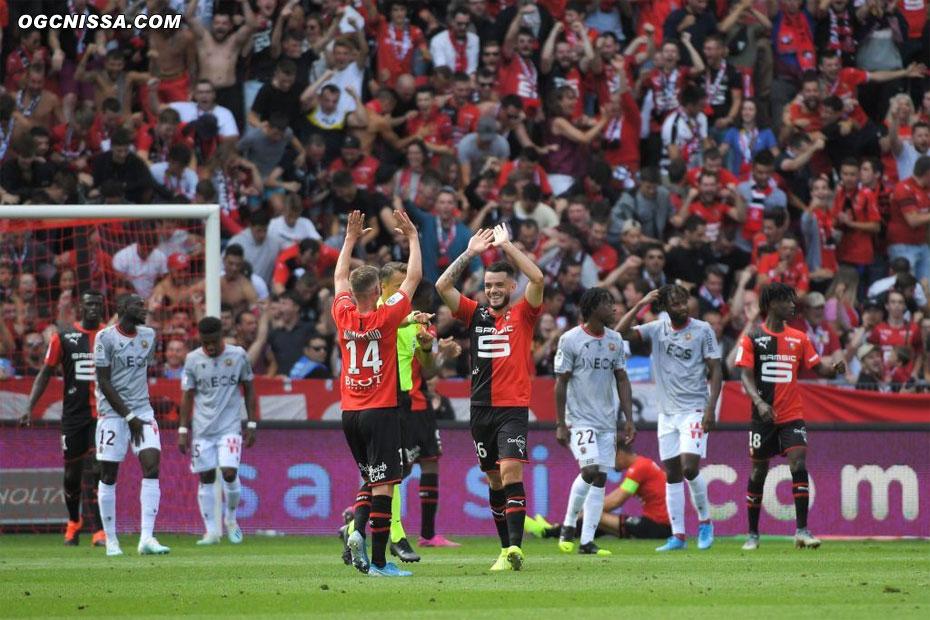 Rennes ouvre le score