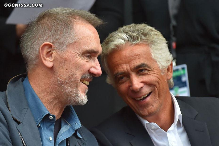 Bob Ratcliff et Jean-Pierre Rivère dans les tribunes