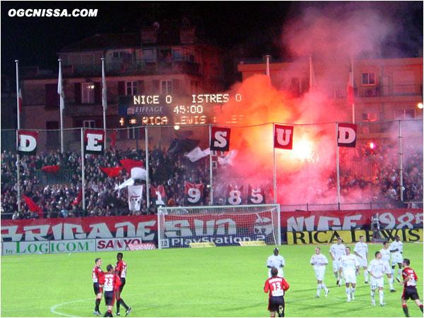 Match nul et vierge entre Niçois et Istréens. La BSN est en feu