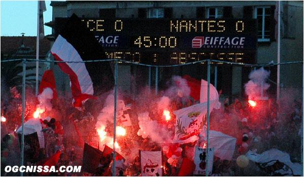 Match de la peur entre Nice et Nantes. La BSN est colorée.