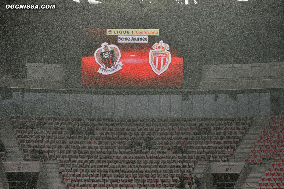 C'est sous un déluge que se jouera cette rencontre de la 5e journée de L1