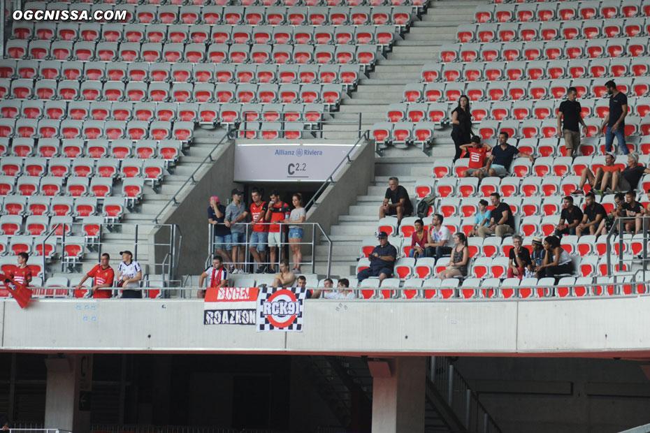 Quelques supporters rennais