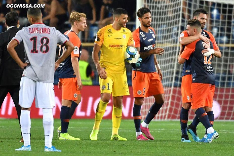 Nice s'incline finalement 2 buts à 1 à Montpellier
