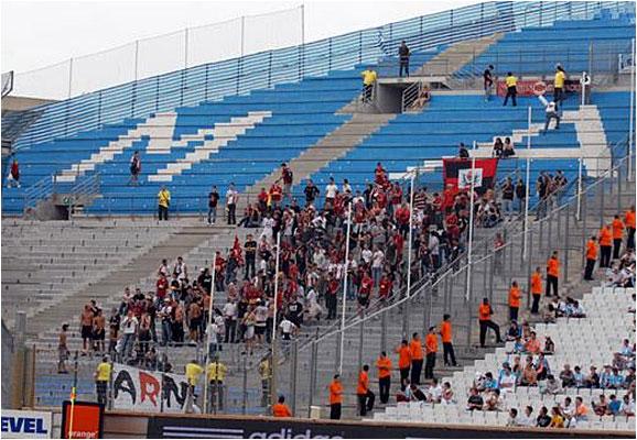 Environ 300 supporters niçois ont fait le déplacement pour ce match de milieu de semaine