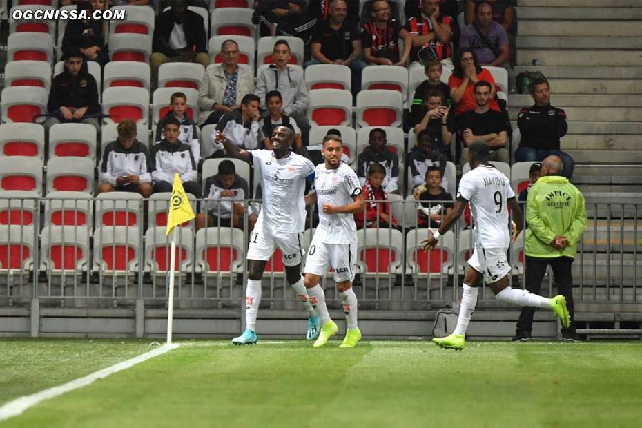 Dijon ouvre le score sur un contre