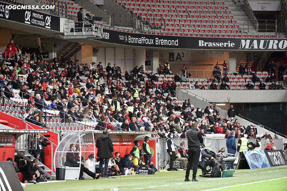 1000 supporters sont présent à l'Allianz Riviera