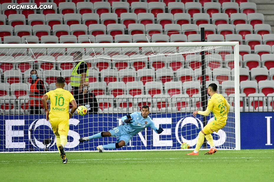 Nantes égalise sur un penalty généreux. Walter Benitez ne peut rien faire