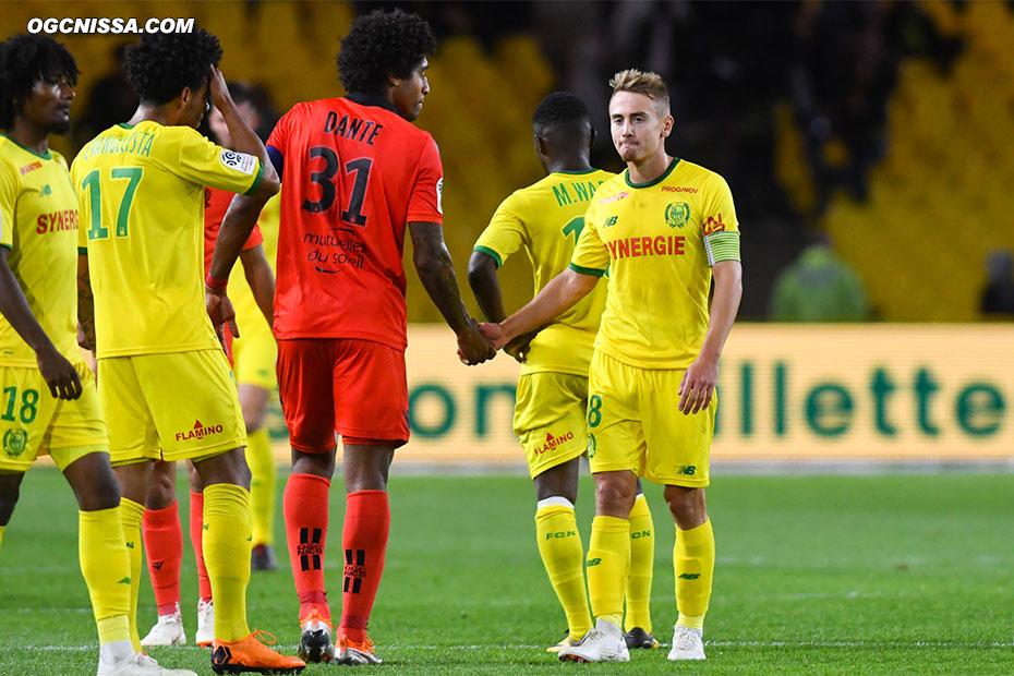 C'est terminé. Le Gym de Dante Bonfim s'impose à Nantes et peut maintenant voir venir le PSG, samedi prochain.
