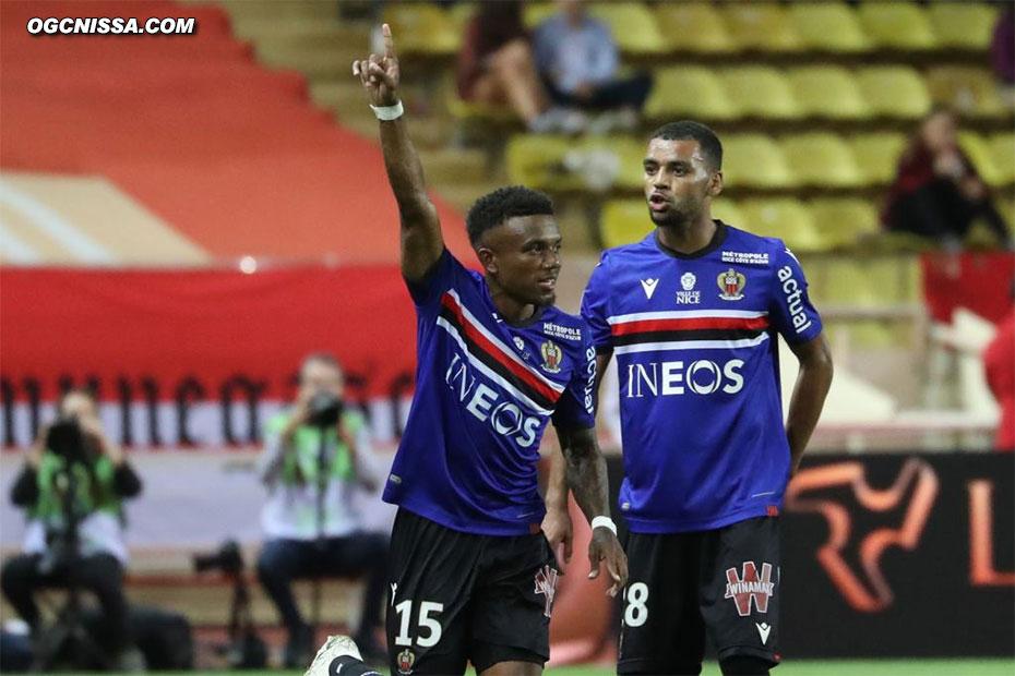 Le premier but de Patrick Burner en Ligue 1, félicité par Alexis Claude Maurice