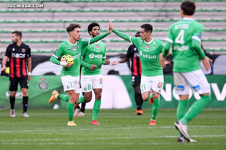 St Etienne réduit le score en seconde période