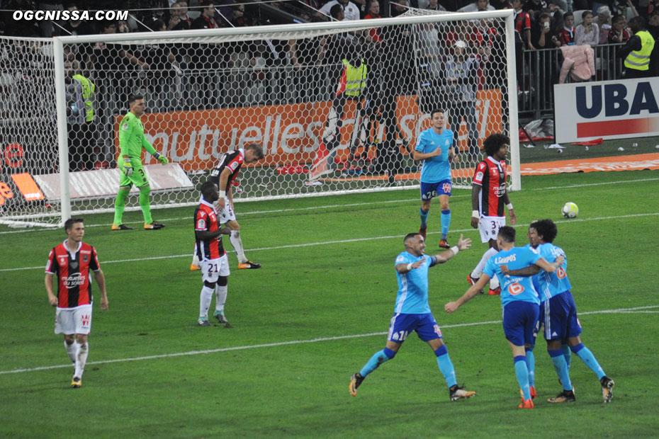 Au debut de la seconde période, Marseille prend le large