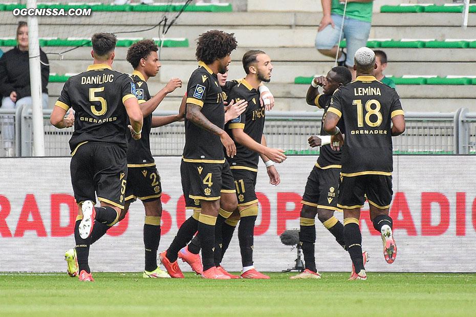 Amine Gouiri ouvre le score