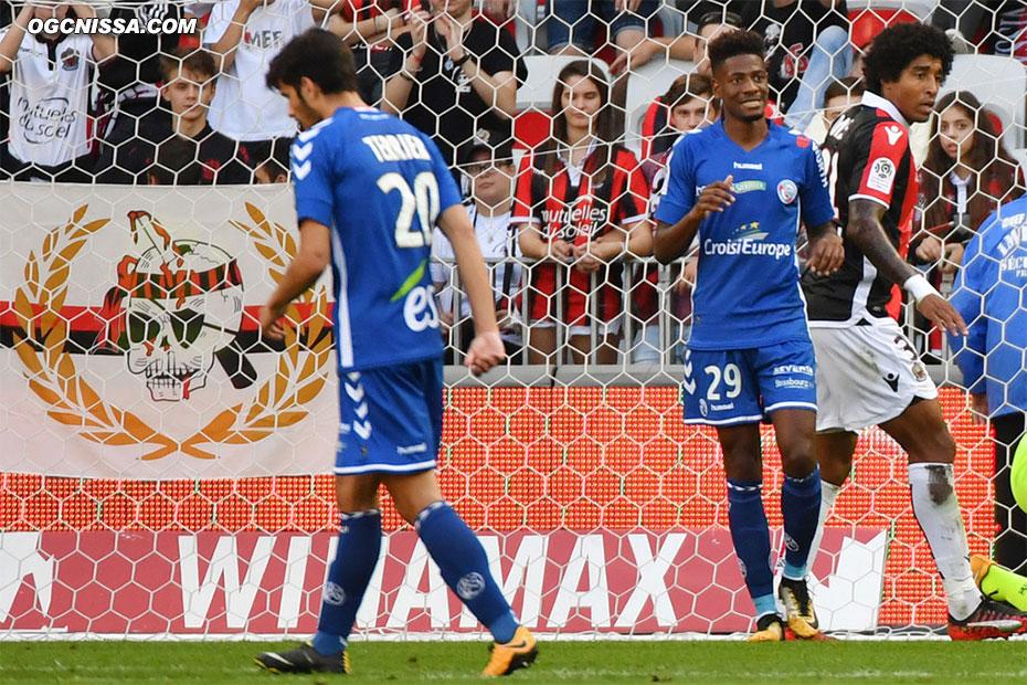 Strasbourg ouvre le score