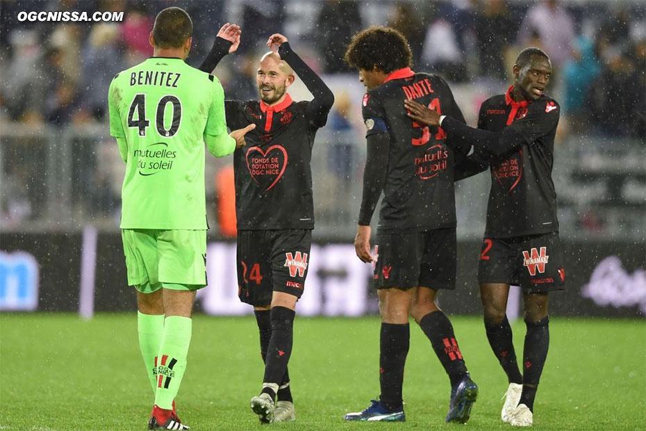 C'est terminé, Nice s'impose 1 à 0 avec monsieur 100% Christophe Jallet