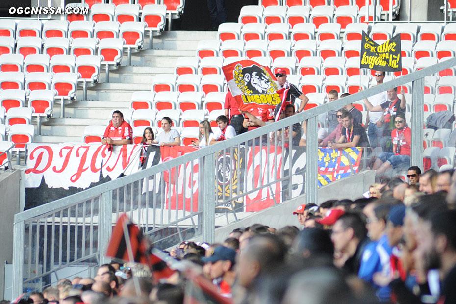 Quelques supporters dijonnais