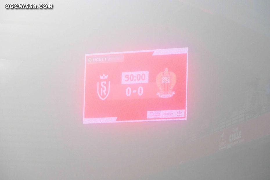 La rencontre se termine de nouveau dans le brouillard, sur un triste 0 à 0.