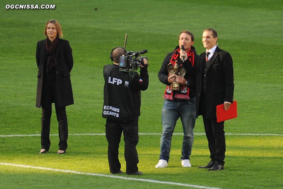 Cyril Rool mis à l'honneur avant le match
