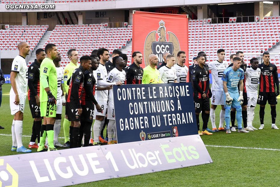 Message contre le racisme