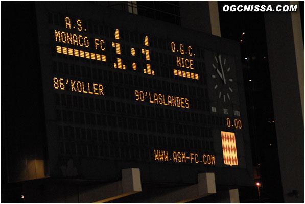 1 but partout, score final