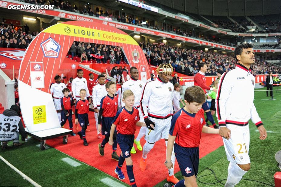 Déplacement à Lille pour cette 23e journée de L1, avec Allan Saint Maximin et Danilo Barbosa titulaires