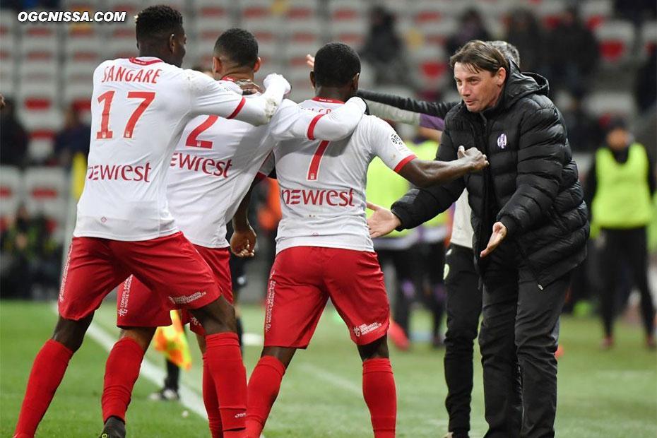 Toulouse ouvre le score sur sa seule action