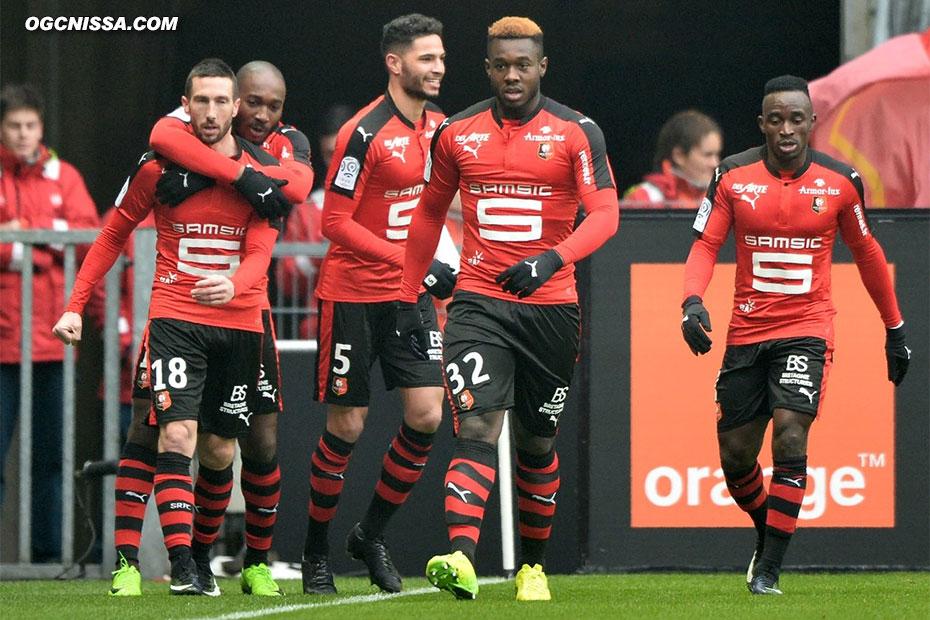 Rennes ouvre rapidement le score