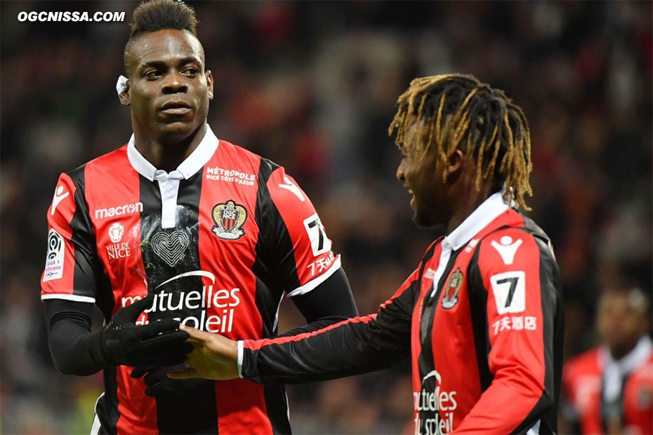 Le 14e but en Ligue 1 de Mario Balotelli