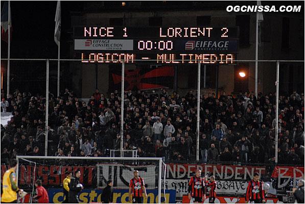 Défaite 2 buts à 1, Nice devra aller encore chercher des points à l'extérieur, et pourquoi pas à Lille samedi prochain.