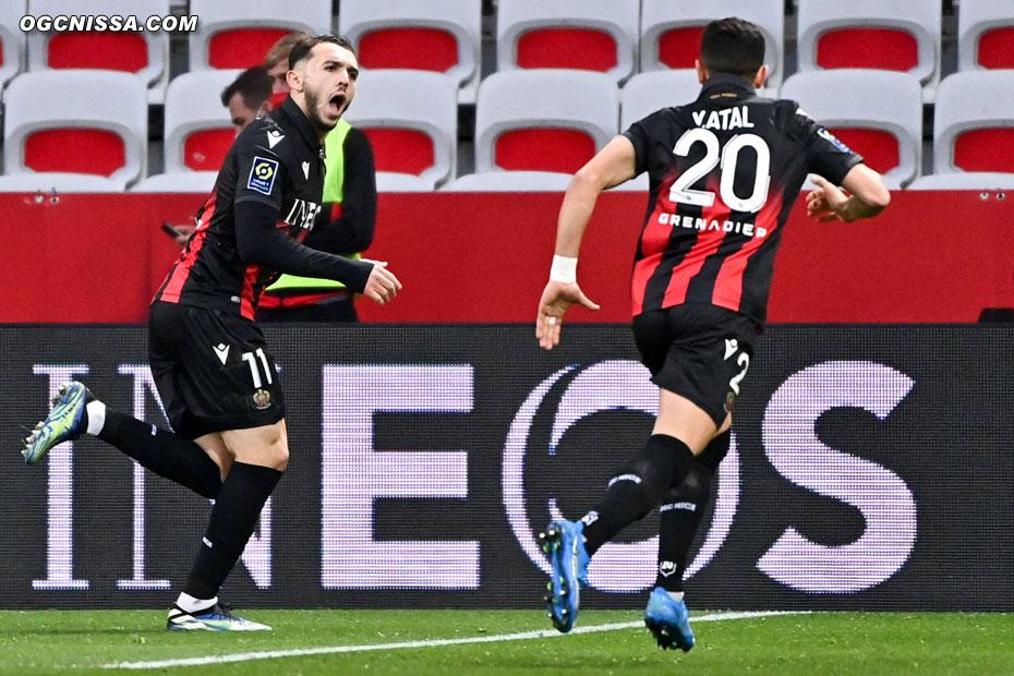 Amine Gouiri marque le 2e but niçois