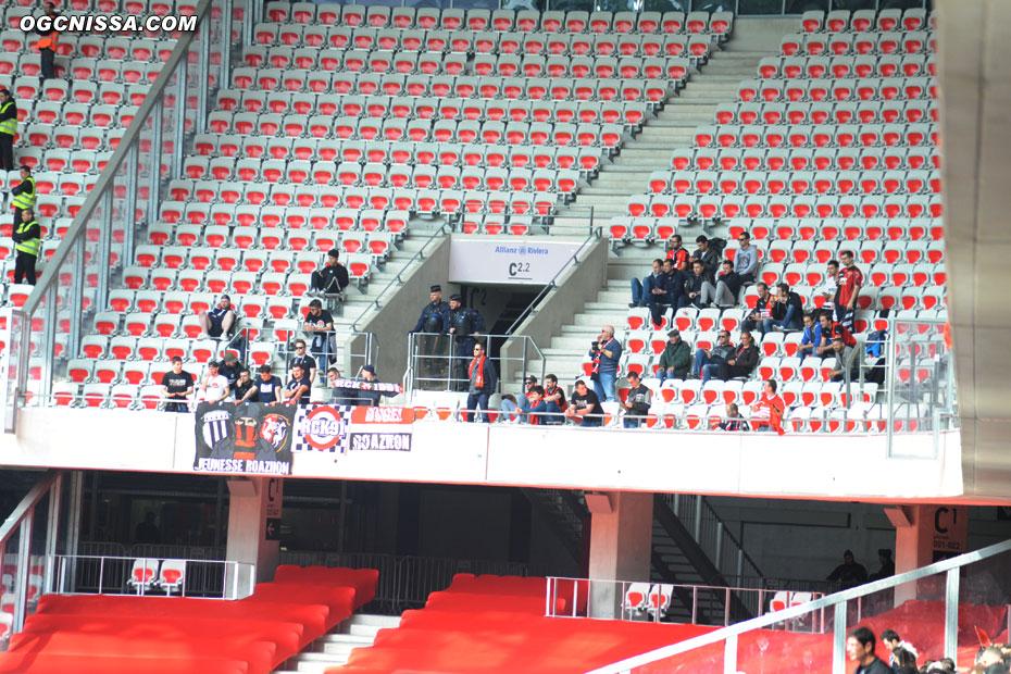 Quelques supporters visiteurs