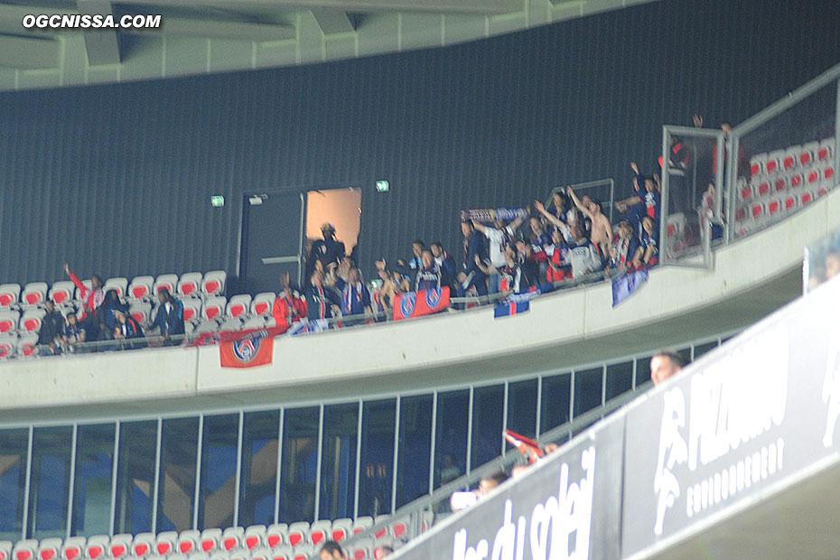 Quelques supporters du PSG