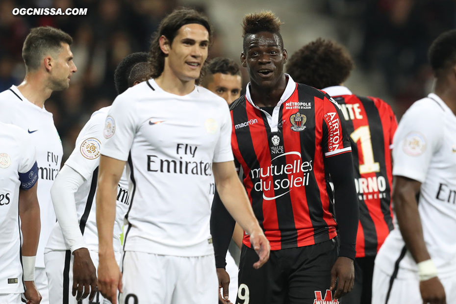 Mario Balotelli et Edinson Cavani se chambreront beaucoup