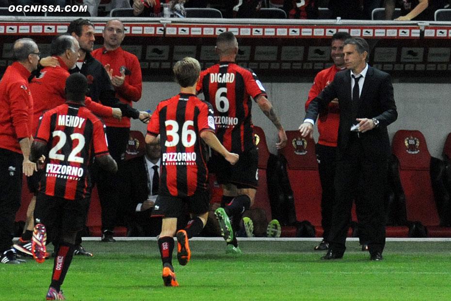 Il va fêter son premier but de la saison avec Frédéric Gioria