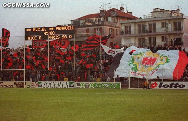 La BSN lors de Nice - PSG