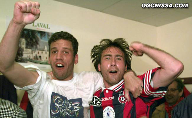 Frédéric Gioria et Frédéric Tatarian fêtent la qualification pour la finale de la Coupe de France !