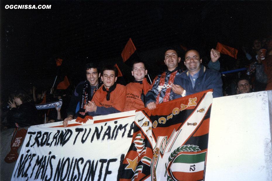 Les supporters du Gym avant la finale face à Guingamp