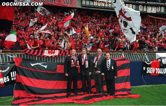 Le Maire de Nice et le président vont voir les supporters de la BSN avant la finale