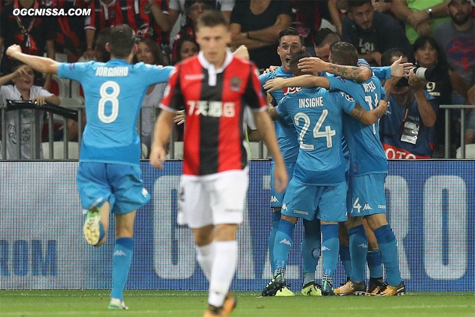 Naples ouvre le score en début de seconde période et anéanti les chances niçoises