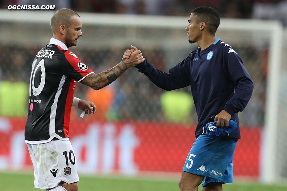 Wesley Sneijder et les Aiglons joueront l'Europa League cette saison
