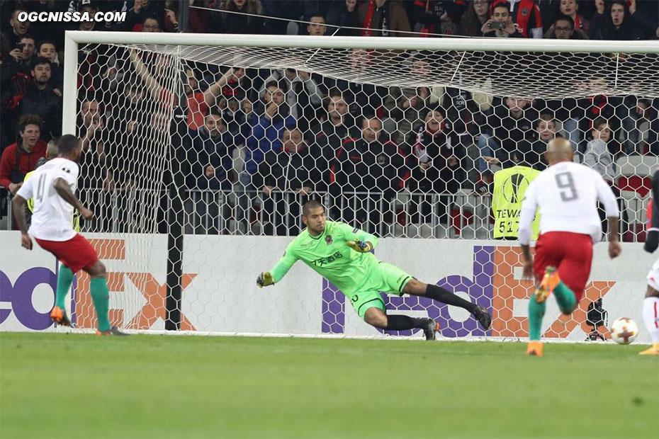 Le Lokomotiv revient sur un penalty en fin de première période