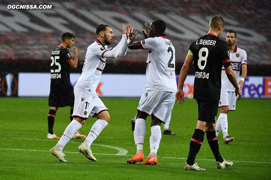 Après une demi heure compliqué qui voit Nice être menée 2 à 0, Amine Gouiri réduit le score et redonne espoir aux aiglons
