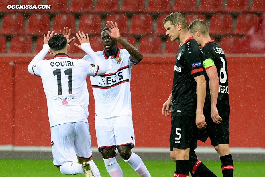 Amine Gouiri remercie le passeur Stanley Nsoki