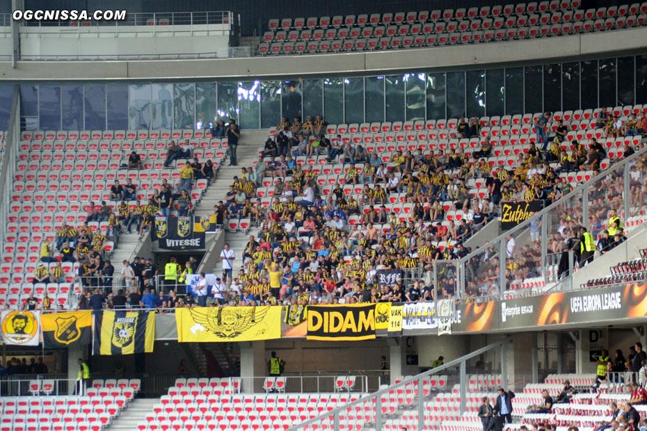 500 supporters du Vitesse Arnhem ont fait le déplacement