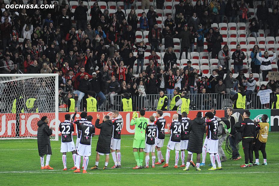 Les Aiglons et leurs supporters ont maintenant rendez-vous avec Lyon, dimanche prochain.