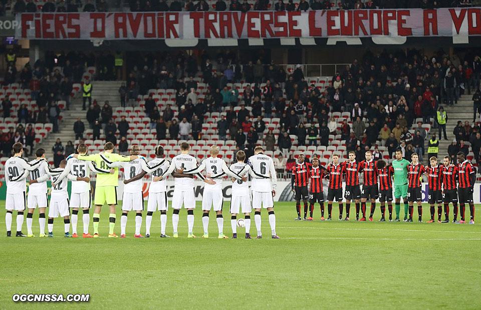 Une minute de silence avant cette dernière rencontre d'Europa League