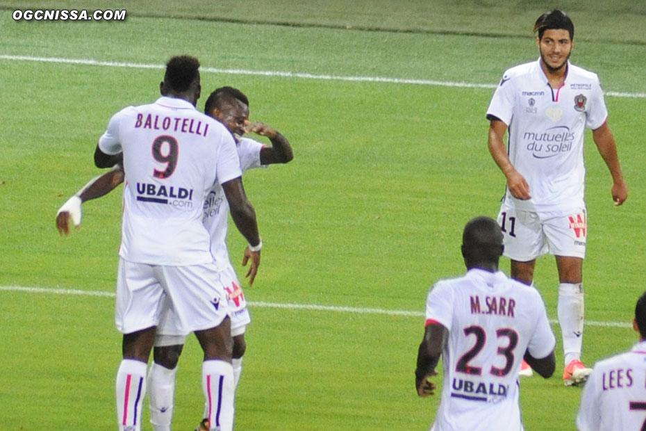 Mario Balotelli, Jean-Michael Seri et Bassem Srarfi